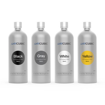 Anycubic® Black/Gray/Yellow/White 500ML 405nm UV Sensitive Resin For Photon 3D Printer