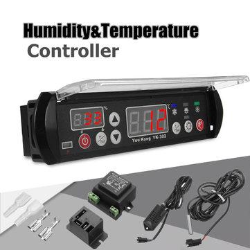 Contrôleur d'humidité de température numérique à micro-ondes 12V Thermostat Capteur