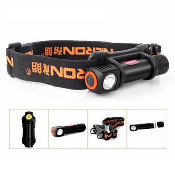 Nicron H12 XP-E2 R3 120Lumens 3Modes Dimming Removable Rotatable LED Flashlight Headlamp 18650