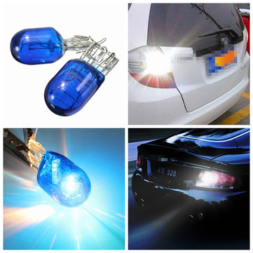 Blue W21 5W T20 580 7443 Xenon White Halogen DRL Side Light Light Hid Bulb