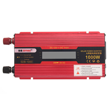600W/1000W/1500W/2000W LED Display Power Inverter Converter 12V To 110V USB Socket