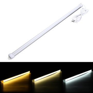 52CM 8W SMD5630 Portable USB 36LEDs Rigid Strip Hard Bar Light with Cable On / Off Switch DC5V