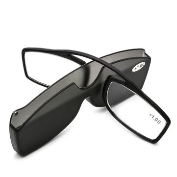 KCASA New Nose Clip Reading Glasses TR90 Mini Portable