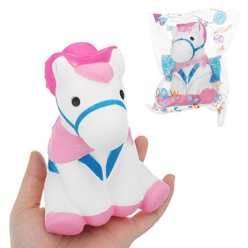 Horse Squishy 12*9 CM Slow Rising With Packaging Collection Gift Soft Toy