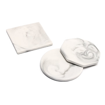 3 Pattern Marble Ceramic Texture Drink Coffee Tea Cup Coaster Mat Anti-Slip