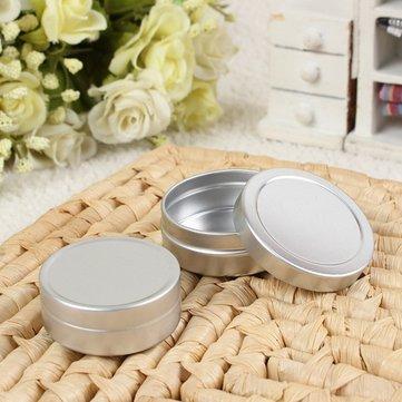 2pcs vazio cosméticos pot frasco de alumínio estanho 10ml de armazenamento de contentores + 20ml