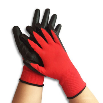 Garden Labour Protection Nylon Glove 1 Pair Nitrile Coated Working Gloves Anti Skid Wear Resistant