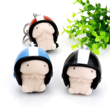 Squishy Ding Ding With Helmet Random Color Cute Keychain Squeeze Stress Reliever Prank Toy