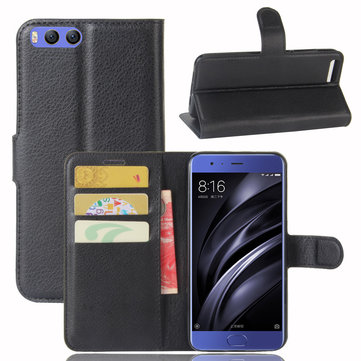 Flip PU Leather Wallet Card Slot Stand Cover Case For Xiaomi Mi6 Mi 6