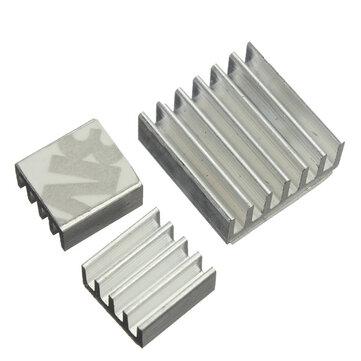 90pcs Adhesive Aluminum Heat Sink Cooler Kit For Cooling Raspberry Pi