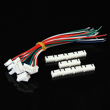 10pcs XH Pitch 2.54mm Single Head 5Pin Wire To Board Connector 15cm 24AWG With Socket