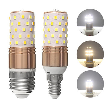 E27/E14 12W SMD2835 60 LED 3 Colors Temperature Corn Light Bulb Home Chandelier Lamp AC85-265V