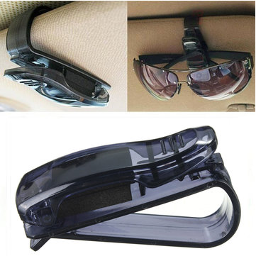 Universal Black Car Auto Sun Visor Sun Glasses Clip Card Ticket Holder Collector Case Hanger