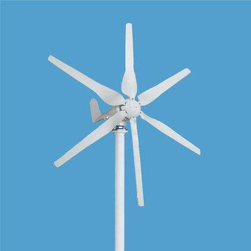 500W 12V/24V/48V 6 Blades Small Horizontal Wind Turbine Wind Generator Kit