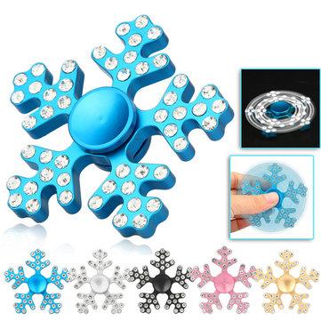 อลูมิเนียมอัลลอยFiveLeavesเกล็ดหิมะหมุนFidgetแฮนสปีนเนอร์ ออทิสติก ADHD ลดของเล่นความเครียด