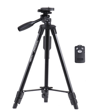 Wireless Bluetooth Remote Control Shutter Aluminum Alloy Professional Camera Phone Tripod Self Timer