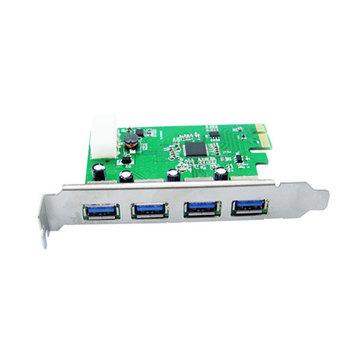 IOCREST 188-4U PCI-E to 4 USB 3.0 Ports Expansion Convert Card для рабочего стола