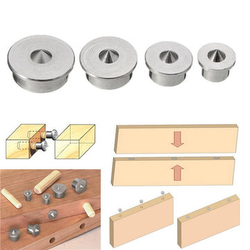 4pcs Dowel Tenon Center Points Pins Set Dowel Joint Alignment Tool 6/8/10/12mm