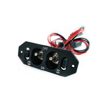 Universal Aluminum High Large Current Double Receiver Switch Toggle For RC Airplane Spare Part