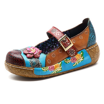 SOCOFY Flat Loafers For Women
