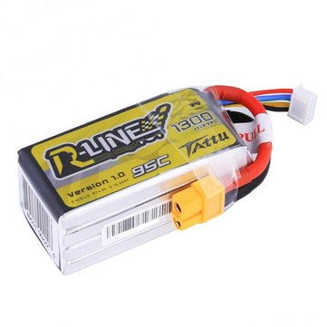 Tattu R-Line 14.8V 1300mAh 95C 4S XT60 Plug Lipo Battery For FPV RC Drone