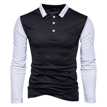 Fashion Pure Color Lapel T-shirt Casual Golf Shirt