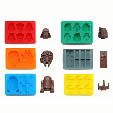 KCASA KC-ON065 Force Awake Silicone Ice Cube Tray Star Wars Chocolate Jelly Candy Soap Cake Mold