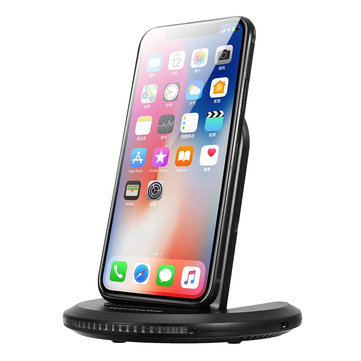 2-Coils 12W Qi Wireless Charger Fast Charging Stand Station Dock For iPhone X/8/Plus Samsung S8
