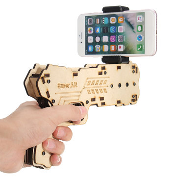 BB01 ARGun 3D Augmented Virtual Reality Shooting Games Smartphone Bluetooth Control Wood Toy