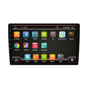 PX6 10.1 Inch 1 DIN 4+32G for Android 9.0 Car MP5 Player 8 Core Touch Screen bluetooth RDS Radio GPS with Carema