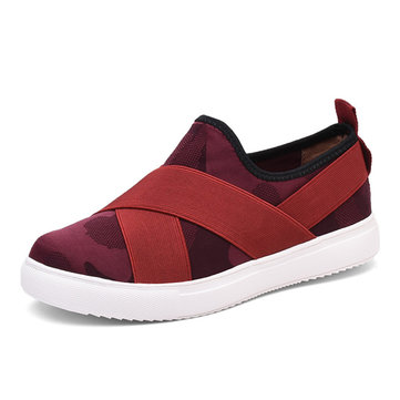 Casual Slip On Bandage Platform Athletic Sport Shoes