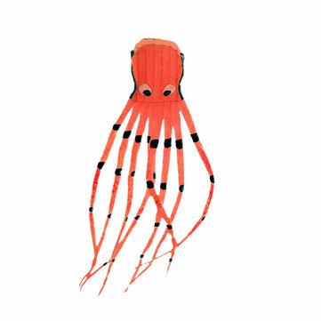 8M 3D Octopus Software Kite Cartoon Extérieure Pliable Enfants Jouets Amusants