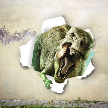 Miico Creative 3D Dinosaur PVC Removable Home Room Decorative Wall Door Decor Sticker