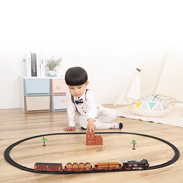 Classic Track Electric Train Set Toys Christmas Gift Real Smoke And Sounds Toy 13 Piece