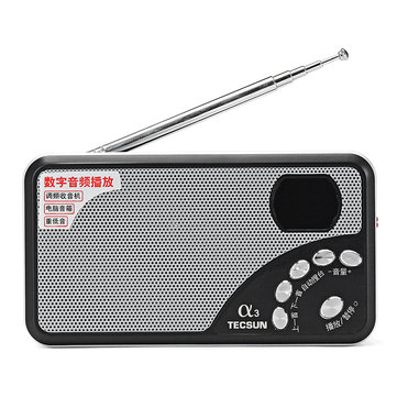 Tecsun A3 Digital FM Radio Receiver Speaker Support TF Card