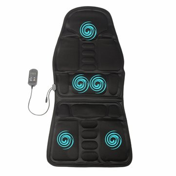 8 Modes Massage Seat Cushion Massager Pain Relief Adjustable Switch Home Car