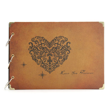 DIY Handmade Vintage Stamping Wedding Photo Album Eternal Memory Album