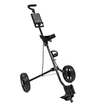 2 Wheel Golf Push Cart Outdoor Foldable Golf Trailer Aluminum Golf Carrier Golf Trolley Sport Equipment