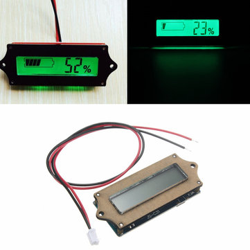 12V Lead Acid Lithium LiPo Battery Power Capacity LCD Indicator Tester Voltmeter