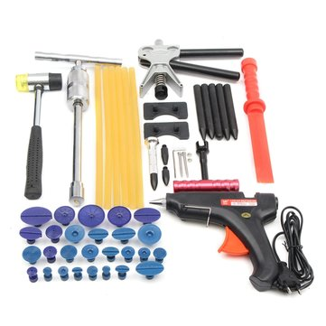 44pcs PDR Car Body Dent Paintless Repair Tool Kit Removal Puller Lifter Slide Hammer Glue Gun