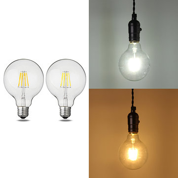 E27 G95 8W Warm White Pure White Filament Incandescent Light Bulb AC85-265V