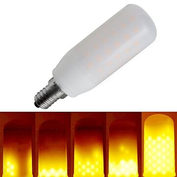 E12 3W Three Modes 1400-1600K 270LM Warm White LED Flame Light Bulb for Lantern Party AC85-265V