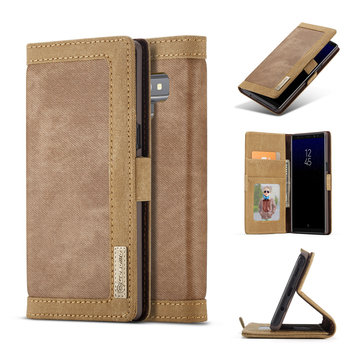 Caseme Canvas Magnetic Flip Bracket Wallet Protective Case For Samsung Galaxy Note 9