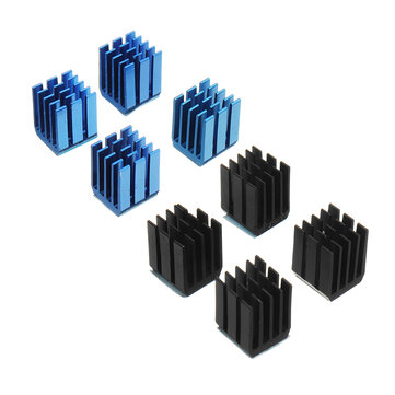 4PCS Black or Blue TMC2100 Stepper Motor Driver Cooling Heatsink With Back Glue For 3D Printer