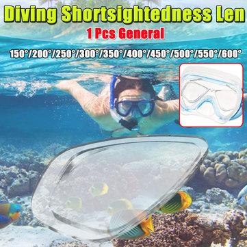 Gennemsigtig Resin Universal Svømmedykning Kortsynethed Briller Myopi Len Lins