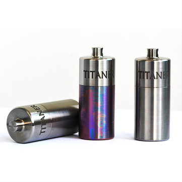 Outdoor CNC Titanium Waterproof Pill Case Portable Light Weight Medicine Box Travel Kits
