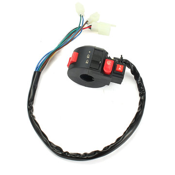 22mm 110-250CC Motocross Switch With Flame Ignition Light Horn Four-function For Quad Bike
