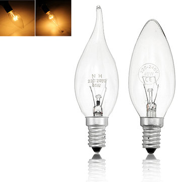 E14 40W Warm White Vintage Edison Incandescent Candle Light Lamp Bulb AC220V