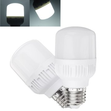 5W 10W 14W 18W E27 Pure White No Strobe E27 LED Light Bulb for Indoor Home Use AC180-260V