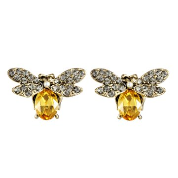 Luxury Oktant Rhinestone Crystal Ear Stud 18K Gold Plated